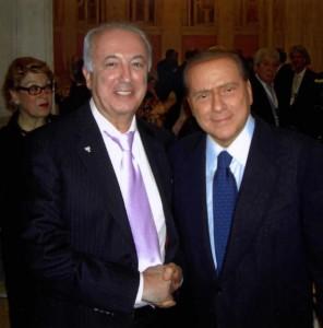 Борис Фуксман и Сильвио Берлускони