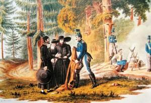 Французские солдаты и евреи, 1812 г.