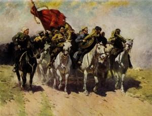 """""""Трубачи Первой конной"""", худ. М.Греков, 1934"""
