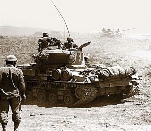 Израильские танки,  наступление на Голанских высотах