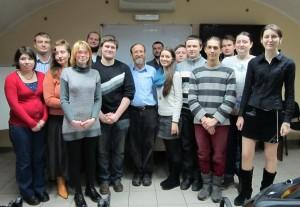 Профессор Шауль Штампфер  со студентами магистерской программы