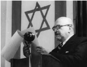Хаим Вейцман обращается с речью к депутатам Учредительного собрания
