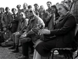 Голда Меир и Моше Даян в дни Войны Йом Кипур
