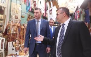 Мэр Киева Виталий Кличко и Посол Украины  в Израиле Геннадий Надоленко
