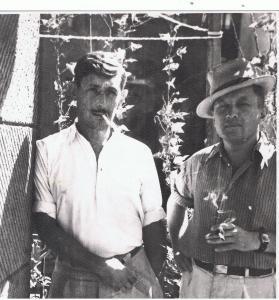 Виктор Некрасов и Иван (Яня) Богорад, Киев, конец 1950-х годов