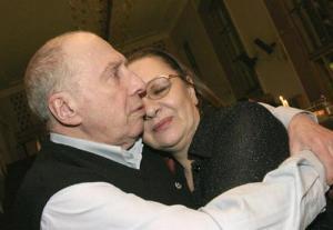 Сергей Юрский с женой Натальей Теняковой