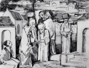 """""""Евреи в Иерусалиме"""", худ. Бруно Шульц"""