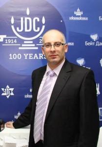 Михаил Крупников на праздновании  100-летия «Джойнта», Харьков, 2014 г.