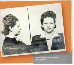 Фото, сделанное при аресте в Швейцарской федеральной  полиции. Женева, 21 апреля 1944 г.