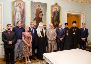 На встрече с Патриархом Киевским и всей Руси-Украины Филаретом
