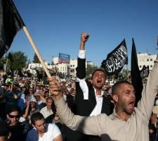 """Митинг сторонников """"Хизб ат-Тахрир"""", Рамалла"""
