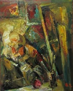 «Автопортрет в мастерской», 2014 г.