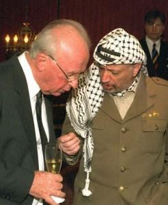 Ицхак Рабин и Ясир Арафат