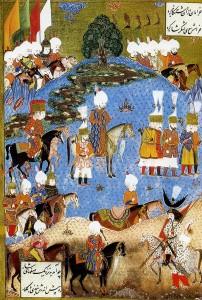 Миниатюра, изобраæающая Сулеймана