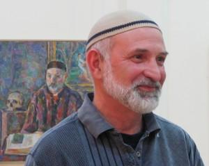 Борис Карафелов на выставке своих произведений, 2011 г.