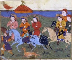 «Хулагу и его армия», миниатюра, XV век