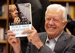 Джимми Картер в своей книге «Палестина: мир, а не апартеид» обвиняет Израиль в политике апартеида в отношении палестинских арабов