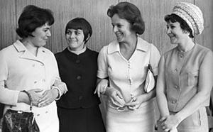 Майя Кристалинская, Мирей Матье, Гелена Великанова и Тамара Миансарова в Кремлевском Дворце съездов, 1967 год