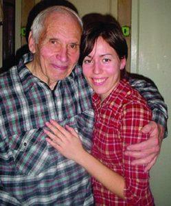 Жорж Коваль с внучкой