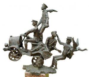 В Cаду скульптур Одесского литературного музея можно увидеть композицию «Антилопа-Гну»