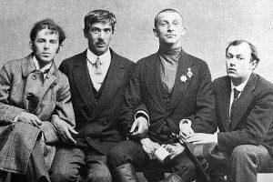 Осип Мандельштам, Корней Чуковский, Бенедикт Лившиц и Юрий Анненков