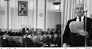 Давид Бен-Гурион 14 мая 1948 года зачитал Декларацию независимости Израиля и возглавил молодое государство