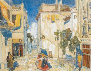 «Улица в Севилье», Александр Головин, 1908 г. Из коллекции Давида Сигалова