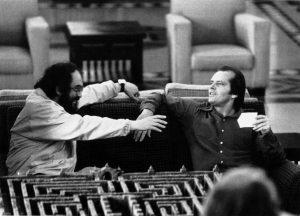 """С Джеком Николсоном во время съемок фильма """"Сияние"""""""