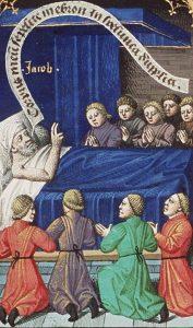 Франсуа Мэтр. Яаков благословляет сыновей. 1475–1480 гг.