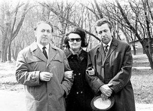 С любимой женой Леной Медведь и незабвенным другом Владимиром Фролькисом