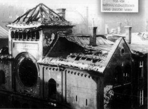 Мюнхенская синагога «Охель Яаков», разгромленная во время Хрустальной ночи