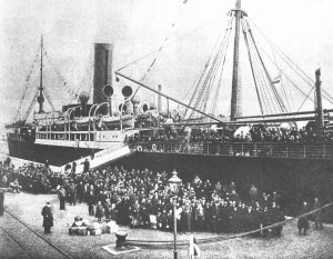 Пароход с эмигрантами, 1909 г.