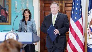 Представитель США при ООН Никки Хейли и госсекретарь Майк Помпео объявили о выходе Вашингтона из Совета ООН по правам человека