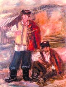 'Два гуцула', Зигмунд Менкес, 1928.