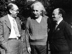 И. Фефер, А. Эйнштейн и С. Михоэлс, США, 1943