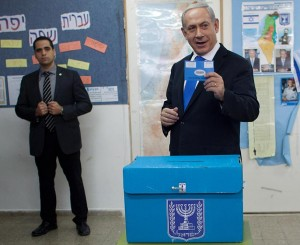 Голосует Биньямин Нетанияху