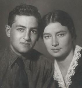 И.А.Рапопорт и Лия Владимировна Луговая - первая жена. 1938 г.