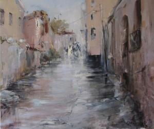 «Улица в Меа Шеарим. Дождь», 2005