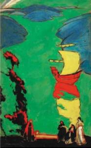 Амшей Нюренберг. Эскиз к декоративной восточной композиции. 1913 г.
