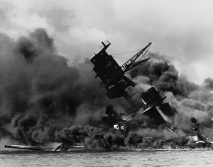 Гибель «Аризоны» после японской атаки