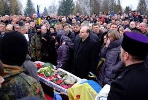 Похороны Александра Щербанюка в Черновцах