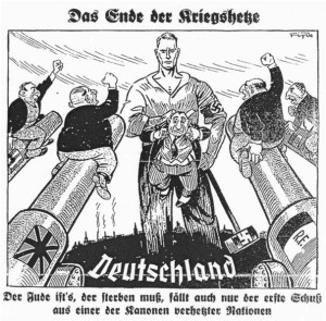 Карикатура из еженедельной газеты «Дер Штюрмер», май 1933 г.