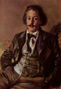 Пауль Хейзе. Портрет работы Адольфа фон Менцеля