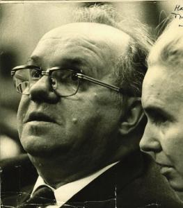 Николай Жуков на выставке Германа Гольда, 1962 г.