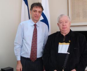 Посол Государства Израиль в Украине Элиав Белоцерковский  и главный редактор «Еврейского обозревателя» Михаил Френкель
