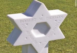 Могила американского солдата-еврея в Нормандии