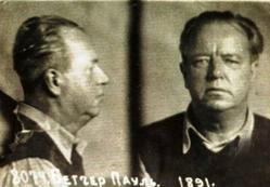 Пауль Беттхер. Фото, сделанное при аресте «СМЕРШем».  Москва, Лубянка, 21 февраля 1946 г.