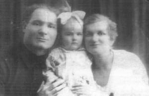 Лев Задов с женой и дочерью, 1926 г.