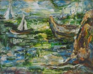 «Корабли у берегов Ашдода», 1973 г.