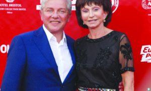 Олег Филимонов с женой Ларисой на Одесском международном кинофестивале, 2015 г.